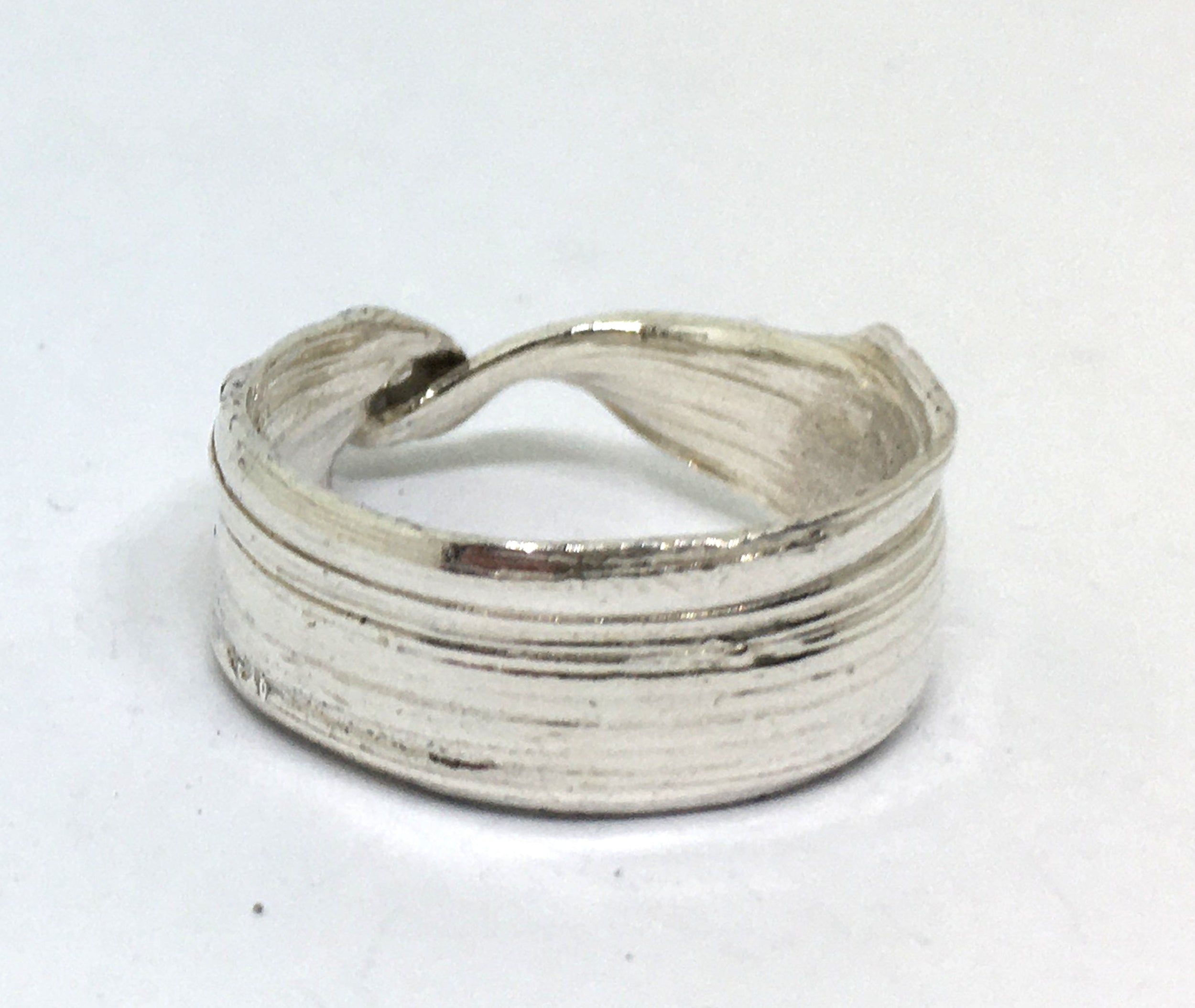 Twisted Bamboo Leaf Ring in Sterling Silver