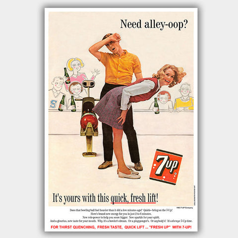 7-Up Bowling (1963) - Advertising Poster - 13 x 19 inches