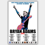 Bryan Adams (2012) - Concert Poster - 13 x 19 inches