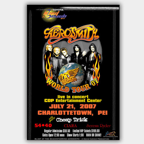 Aerosmith with Cheap Trick (2007) - Concert Poster - 13 x 19 inches