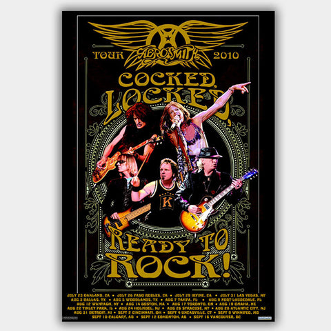 Aerosmith (2010) - Concert Poster - 13 x 19 inches
