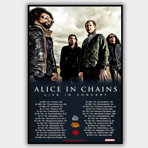 Alice In Chains with Monster Truck (2014) - Concert Poster - 13 x 19 inches