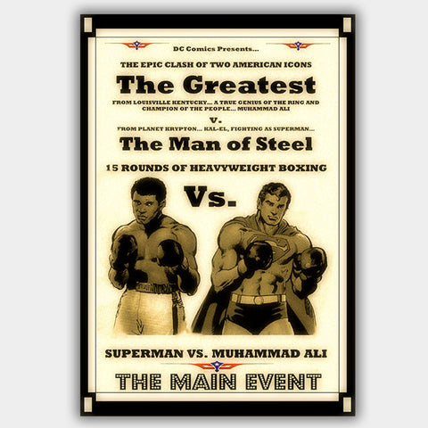 Ali Vs Superman  - Poster - 13 x 19 inches