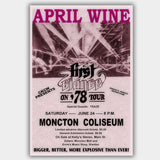 April Wine with Teaze (1978) - Concert Poster - 13 x 19 inches