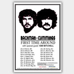 Bachman & Cummings with Kim Mitchell (2007) - Concert Poster - 13 x 19 inches