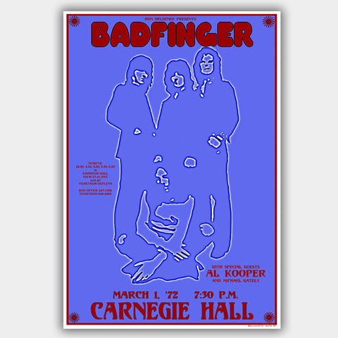 Badfinger with Al Kooper (1972) - Concert Poster - 13 x 19 inches