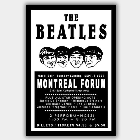Beatles with Righteous Bros (1964) - Concert Poster - 13 x 19 inches