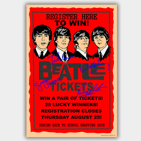 Beatles (1965) - Concert Poster - 13 x 19 inches