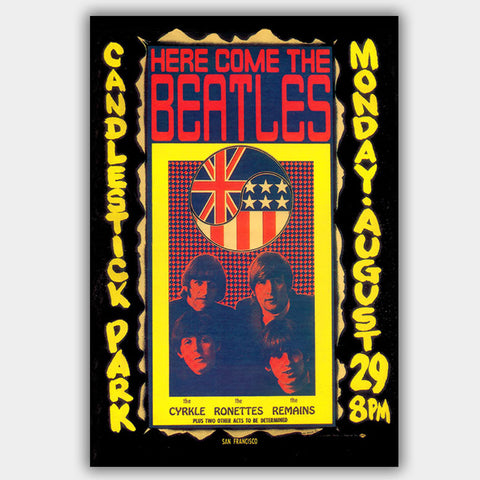 Beatles (1966) - Concert Poster - 13 x 19 inches