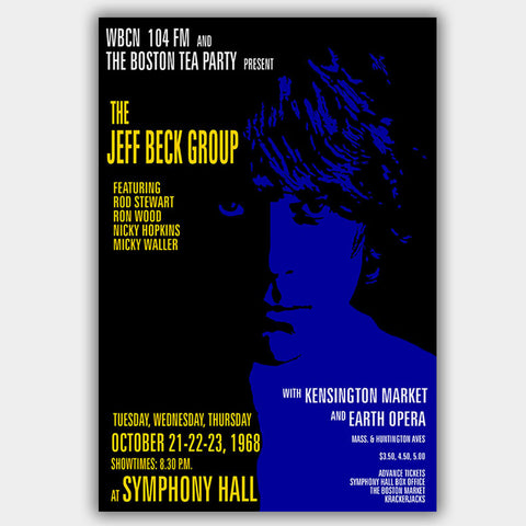 Jeff Beck with Kensington Market (1968) - Concert Poster - 13 x 19 inches