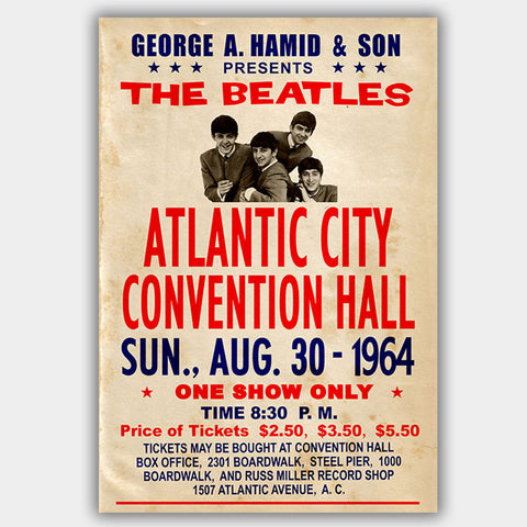 The Beatles (1964) - Concert Poster - 13 x 19 inches