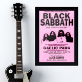 Black Sabbath with Alice Cooper (1971) - Concert Poster - 13 x 19 inches