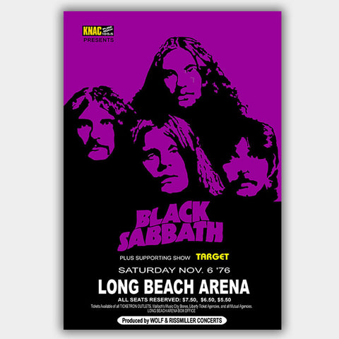 Black Sabbath with Target (1976) - Concert Poster - 13 x 19 inches