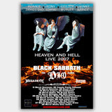 Black Sabbath with Megadeth (2007) - Concert Poster - 13 x 19 inches