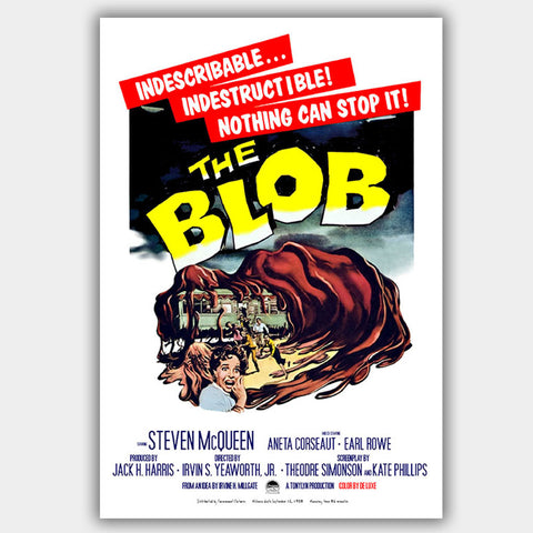 The Blob (1958) - Movie Poster - 13 x 19 inches
