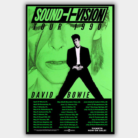 David Bowie (1990) - Concert Poster - 13 x 19 inches