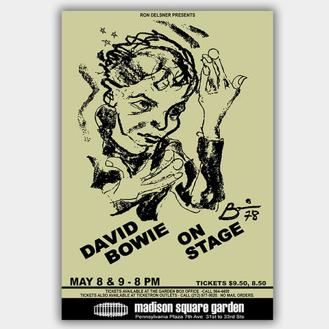 David Bowie (1978) - Concert Poster - 13 x 19 inches
