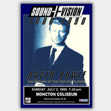 David Bowie with Michael Hodges (1990) - Concert Poster - 13 x 19 inches