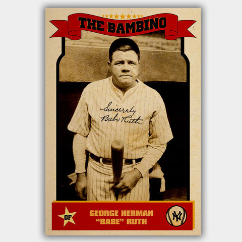 Babe Ruth - Poster - 13 x 19 inches