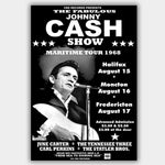 Johnny Cash with Statler Bros (1968) - Concert Poster - 13 x 19 inches