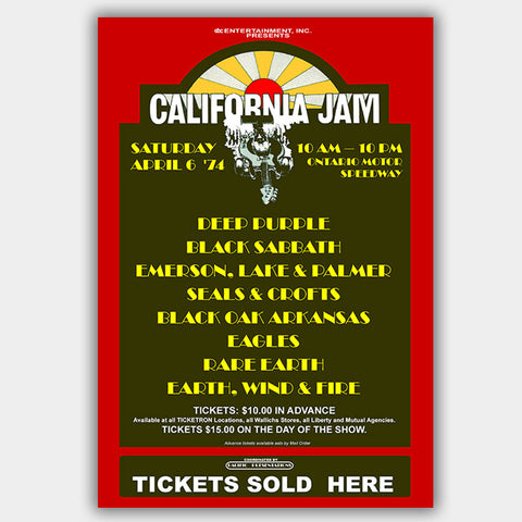 California Jam (1974) - Concert Poster - 13 x 19 inches
