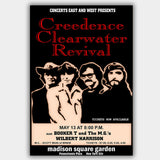 CCR Creedence Clear with Booker T & Mgs (1970) - Concert Poster - 13 x 19 inches