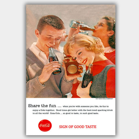 Coca Cola - Share (1957) - Advertising Poster - 13 x 19 inches