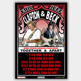 Eric Clapton with Jeff Beck (2010) - Concert Poster - 13 x 19 inches