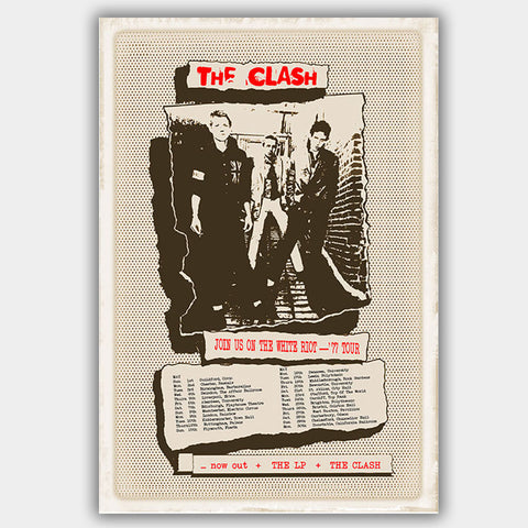 Clash (1977) - Concert Poster - 13 x 19 inches