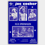 Joe Cocker with Rep Speedwagon (1976) - Concert Poster - 13 x 19 inches