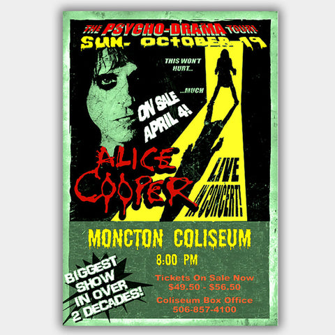Alice Cooper (2008) - Concert Poster - 13 x 19 inches