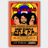 Cream with Deep Purple (1968) - Concert Poster - 13 x 19 inches