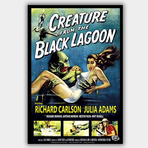 Creature From The Black Lagoon (1954) - Movie Poster - 13 x 19 inches