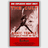 Cult (1989) - Concert Poster - 13 x 19 inches