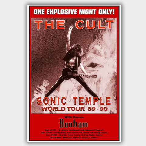 The Cult (1989) - Concert Poster - 13 x 19 inches