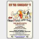 Crosby Stills & Nash with Joni Mitchell (1974) - Concert Poster - 13 x 19 inches