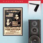Miles Davis with Nina Simone (1971) - Concert Poster - 13 x 19 inches