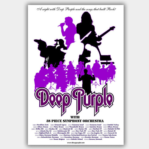 Deep Purple (2011) - Concert Poster - 13 x 19 inches