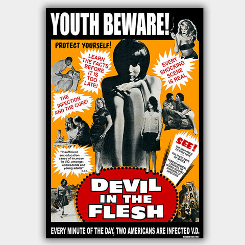 Devil In The Flesh (1967) - Advertising Poster - 13 x 19 inches
