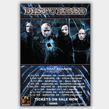 Disturbed with All That Remains (2009) - Concert Poster - 13 x 19 inches