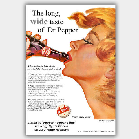 Dr. Pepper (1959) - Advertising Poster - 13 x 19 inches