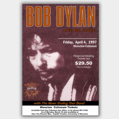 Bob Dylan (1997) - Concert Poster - 13 x 19 inches