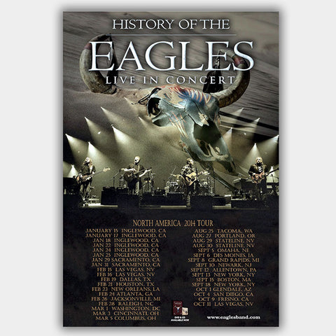 Eagles (2014) - Concert Poster - 13 x 19 inches