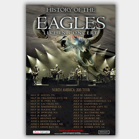 Eagles (2015) - Concert Poster - 13 x 19 inches
