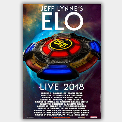 Elo  'Jeff Lynne'S  (2018) - Concert Poster - 13 x 19 inches
