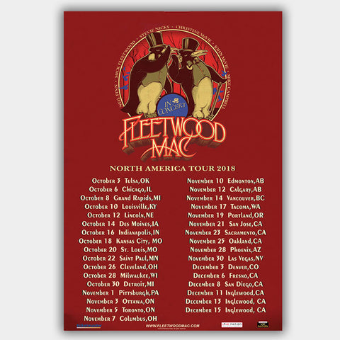 Fleetwood Mac (2018) - Concert Poster - 13 x 19 inches