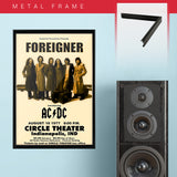 Foreigner with AC/DC (1977) - Concert Poster - 13 x 19 inches