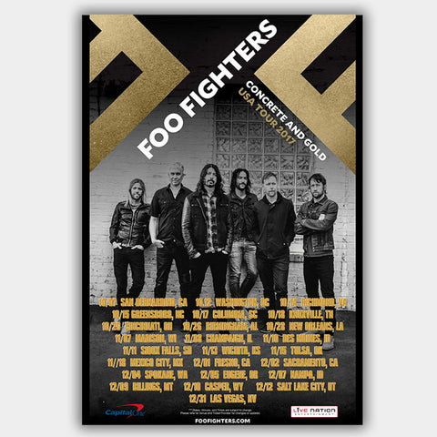 Foo Fighters (2017) - Concert Poster - 13 x 19 inches