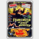 Frankenstein Meets The Space Monster / Curse Of The Voodoo (1965) - Movie Poster - 13 x 19 inches