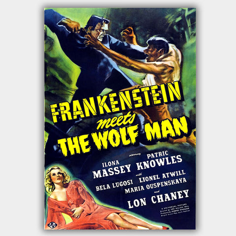 Frankenstein Meets The Wolf Man (1943) - Movie Poster - 13 x 19 inches